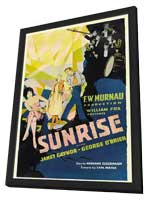 Sunrise: A Song of Two Humans - 11 x 17 Movie Poster - Style A - in Deluxe Wood Frame