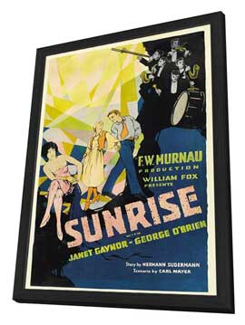 Sunrise: A Song of Two Humans - 27 x 40 Movie Poster - Style A - in Deluxe Wood Frame
