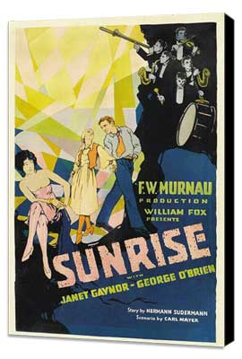 Sunrise: A Song of Two Humans - 27 x 40 Movie Poster - Style A - Museum Wrapped Canvas