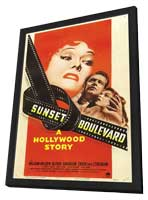Sunset Blvd. - 27 x 40 Movie Poster - Style B - in Deluxe Wood Frame