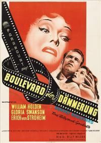 Sunset Blvd. - 11 x 17 Movie Poster - German Style A