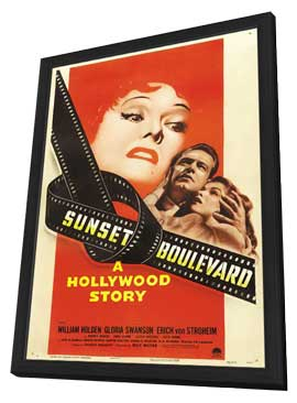 Sunset Blvd. - 11 x 17 Movie Poster - Style B - in Deluxe Wood Frame