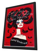 Sunset Boulevard - 11 x 17 Movie Poster - Style B - in Deluxe Wood Frame