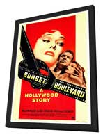 Sunset Boulevard - 27 x 40 Movie Poster - Style A - in Deluxe Wood Frame