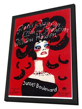 Sunset Boulevard - 27 x 40 Movie Poster - Style B - in Deluxe Wood Frame