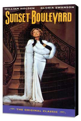 Sunset Boulevard - 11 x 17 Movie Poster - Style C - Museum Wrapped Canvas