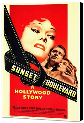 Sunset Boulevard - 27 x 40 Movie Poster - Style A - Museum Wrapped Canvas
