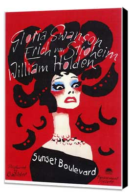 Sunset Boulevard - 27 x 40 Movie Poster - Style B - Museum Wrapped Canvas