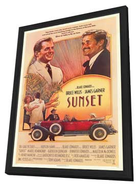 Sunset - 11 x 17 Movie Poster - Style A - in Deluxe Wood Frame