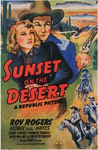 Sunset on the Desert - 11 x 17 Movie Poster - Style A