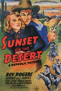 Sunset on the Desert - 27 x 40 Movie Poster - Style A
