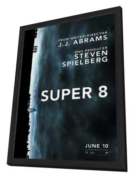 Super 8 - 27 x 40 Movie Poster - Style A - in Deluxe Wood Frame