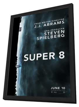 Super 8 - 11 x 17 Movie Poster - Style A - in Deluxe Wood Frame
