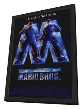 Super Mario Bros. - 27 x 40 Movie Poster - Style A - in Deluxe Wood Frame