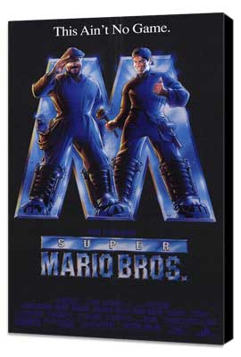 Super Mario Bros. - 27 x 40 Movie Poster - Style A - Museum Wrapped Canvas