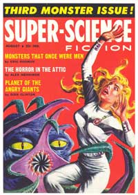 Super Science Fiction - 11 x 17 Retro Book Cover Poster