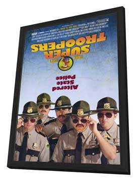 Super Troopers - 27 x 40 Movie Poster - Style A - in Deluxe Wood Frame