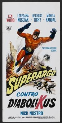 Superargo Versus Diabolicus - 13 x 28 Movie Poster - Italian Style A