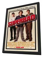 Superbad - 27 x 40 Movie Poster - Style B - in Deluxe Wood Frame