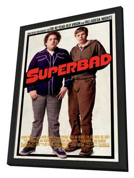 Superbad - 11 x 17 Movie Poster - Style A - in Deluxe Wood Frame