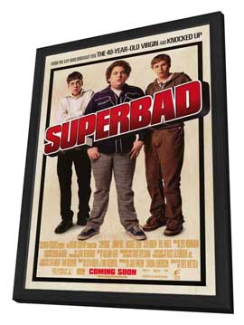 Superbad - 11 x 17 Movie Poster - Style B - in Deluxe Wood Frame