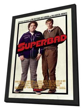Superbad - 27 x 40 Movie Poster - Style A - in Deluxe Wood Frame