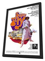 Superfly - 11 x 17 Movie Poster - German Style A - in Deluxe Wood Frame