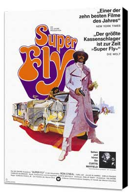 Superfly - 11 x 17 Movie Poster - German Style A - Museum Wrapped Canvas
