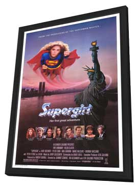 Supergirl - 27 x 40 Movie Poster - Style A - in Deluxe Wood Frame