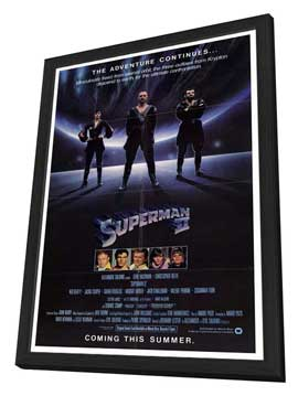 Superman 2 - 27 x 40 Movie Poster - Style A - in Deluxe Wood Frame