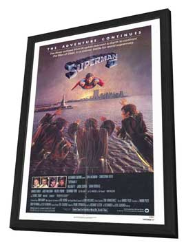 Superman 2 - 27 x 40 Movie Poster - Style B - in Deluxe Wood Frame