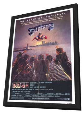 Superman 2 - 11 x 17 Movie Poster - Style B - in Deluxe Wood Frame