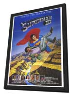 Superman 3 - 27 x 40 Movie Poster - Style A - in Deluxe Wood Frame