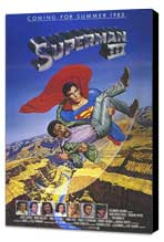 Superman 3 - 11 x 17 Movie Poster - Style B - Museum Wrapped Canvas