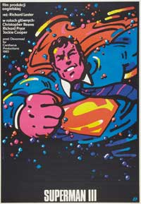 Superman 3 - 11 x 17 Movie Poster - Polish Style A