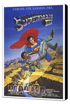 Superman 3 - 27 x 40 Movie Poster - Style A - Museum Wrapped Canvas
