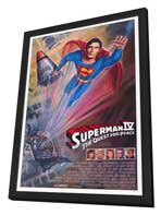 Superman 4: The Quest for Peace - 27 x 40 Movie Poster - Style D - in Deluxe Wood Frame