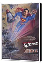 Superman 4: The Quest for Peace - 11 x 17 Movie Poster - Style F - Museum Wrapped Canvas