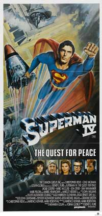 Superman 4: The Quest for Peace - 13 x 30 Movie Poster - Australian Style A
