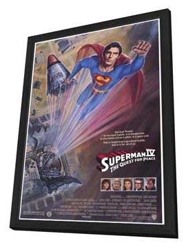 Superman 4: The Quest for Peace - 11 x 17 Movie Poster - Style F - in Deluxe Wood Frame