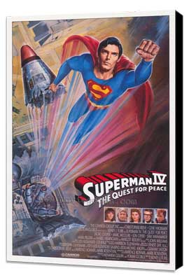 Superman 4: The Quest for Peace - 27 x 40 Movie Poster - Style D - Museum Wrapped Canvas