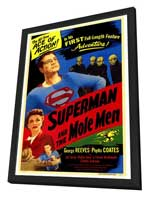 Superman & the Mole Men - 27 x 40 Movie Poster - Style A - in Deluxe Wood Frame