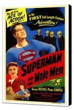 Superman & the Mole Men - 27 x 40 Movie Poster - Style A - Museum Wrapped Canvas
