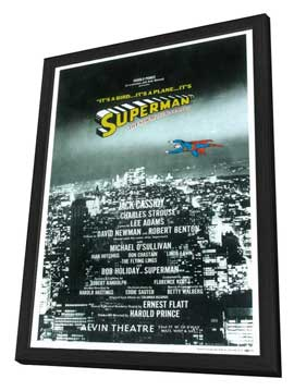 Superman (Broadway) - 14 x 22 Poster - Style A - in Deluxe Wood Frame