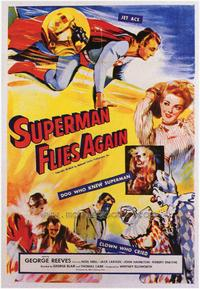 Superman Flies Again - 43 x 62 Movie Poster - Bus Shelter Style A
