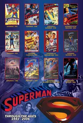 Superman Flies Again - 11 x 17 Movie Poster - Style E