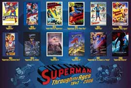 Superman Flies Again - 27 x 40 Movie Poster - Style C