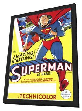 Superman - 11 x 17 Movie Poster - Style A - in Deluxe Wood Frame
