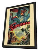 Superman - 11 x 17 Movie Poster - Style F - in Deluxe Wood Frame