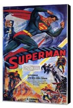 Superman - 11 x 17 Movie Poster - Style A - Museum Wrapped Canvas